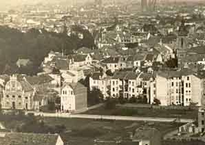Bennauerstraße mit Synagoge vor 1933