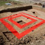Grundriss des römischen Umgangstempels: (c) Foto/Grafik: Ulrich Mania/Uni Bonn
