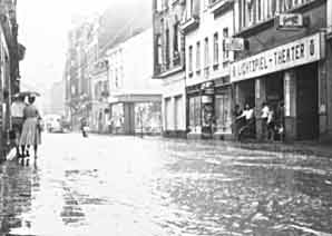 Überschwemmung Clemens August Straße