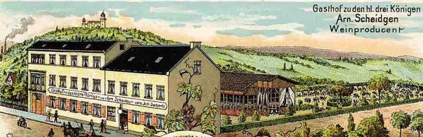 Postkarte Gasthaus hl. 3 Könige
