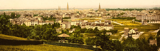 Blick vom Venusberg auf Poppelsdorf und Südstadt